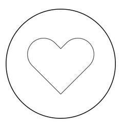 Heart icon black color in circle vector