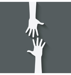 helping hand symbol vector image