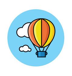 Hot air baloon on sky vector