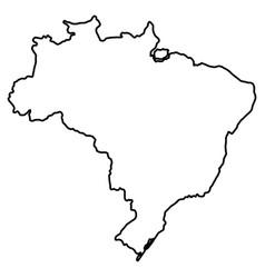 Isolated brazilian map vector