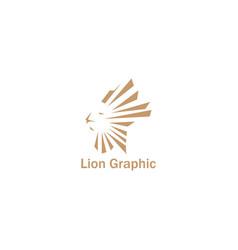 lion graphic logo simple design vector image