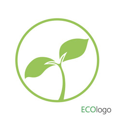 logotype agriculture logo with a young plant vector image