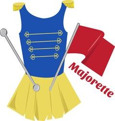 Majorette vector image