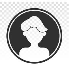 Male user account profile circle flat icon vector