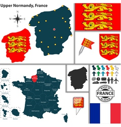 Map of Upper Normandy vector