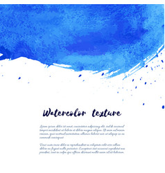 Marina navy blue indigo watercolor texture vector