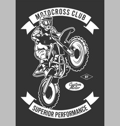 motorcross club vector image