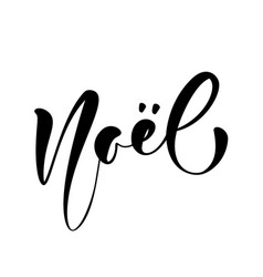 Noel calligraphic hand written text vector