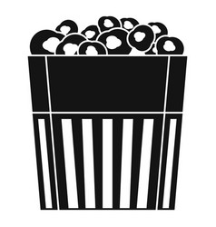 paper popcorn box icon simple style vector image