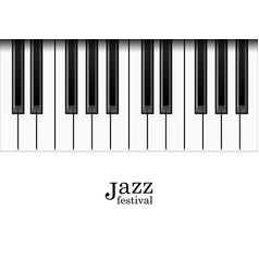 realistic piano keys and jazz festival text vector image