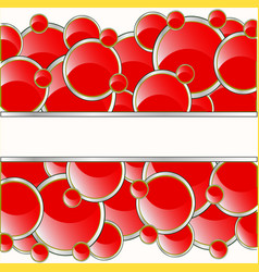red circles background vector image