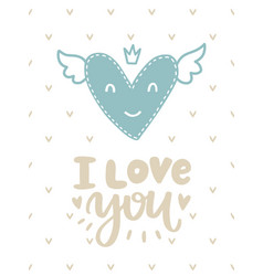 Scandinavian romantic card vector