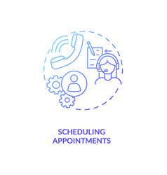 Scheduling appointments blue gradient concept icon vector