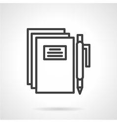 School writing simple line icon vector image
