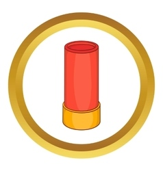 Shotgun shell icon vector