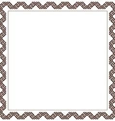 Simple geometric ethnic frame variation 6 vector