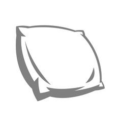 Soft pillow vector