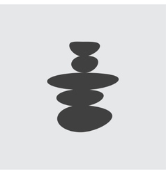 Spa stone icon vector