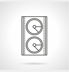 stage speakers system flat line icon vector image