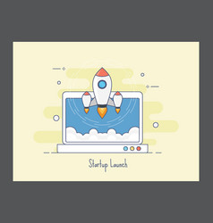 Startup launch icon vector