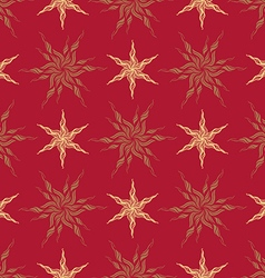stylized vintage gold star vector image