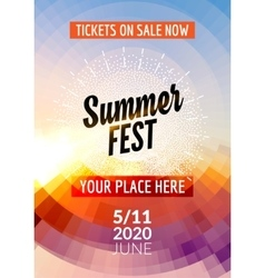 summer festival flyer design template vector image