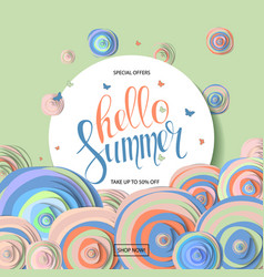 Summer sale banner design vector