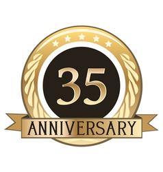 Thirty Five Year Anniversary Badge vector