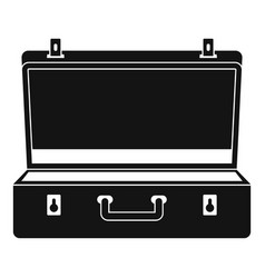 travel case icon simple style vector image
