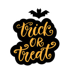 Trick or treat halloween party poster vector