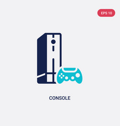 two color console icon from electronic devices vector image