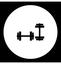 Two dumbbells for strengthening gym black simple vector