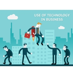 Use of technology in business vector image