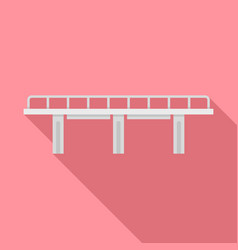 viaduct bridge icon flat style vector image