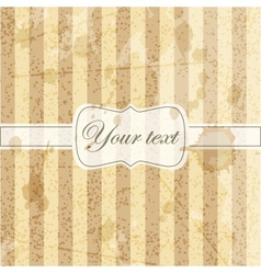 Vintage card with grunge background vector image