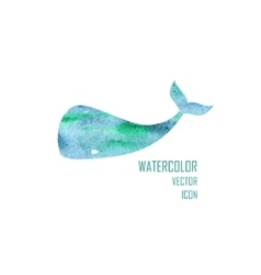 watercolor image a big whale vector image