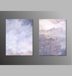 watercolor painting soft blue and purple vector image