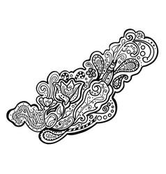 Zentangle decorative element vector