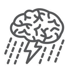 brainstorm line icon development and business vector image vector image