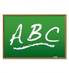 Chalkboard abc vector