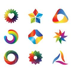 clorful logo vector image vector image