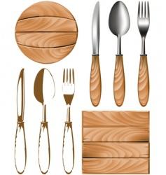 cutlery tree vector image