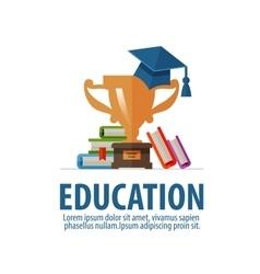 education logo design template school or vector image vector image