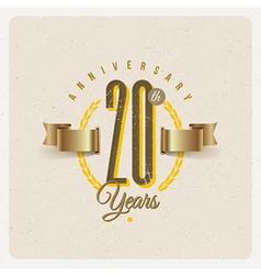 Vintage Anniversary type emblem vector image