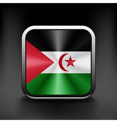 Western Sahara icon flag national travel icon vector image vector image