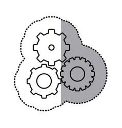 monochrome contour sticker of pinions set vector image vector image