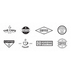 set of coffee label different logo badge emblem vector image