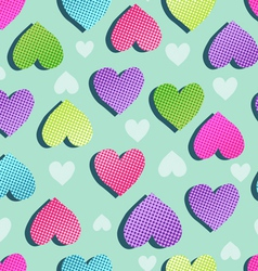 sweet hearts seamless vector image