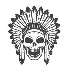 american indian skull vector image