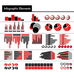 Infographic in black red and gray color vector image vector image